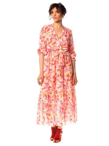 """Scarlet Jones Sukienka """"Eliott"""" w kolorze jasnoróżowym ze wzorem"""