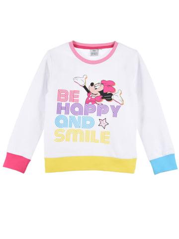 """Disney Minnie Mouse Bluza """"Minnie Mouse"""" w kolorze białym ze wzorem"""