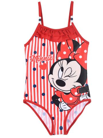 """Disney Minnie Mouse Strój kąpielowy """"Minnie Mouse"""" w kolorze czerwonym"""