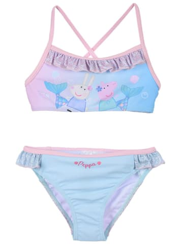 "Peppa Pig Bikini ""Peppa Pig"" w kolorze turkusowo-jasnoróżowym"