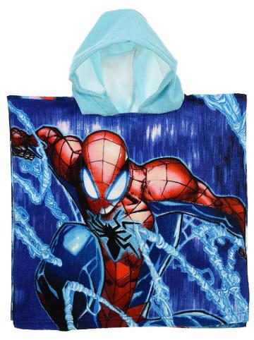 """Spiderman Ręcznik """"Spider-Man"""" w kolorze niebiesko-błękitnym z kapturem - 100 x 50 cm"""