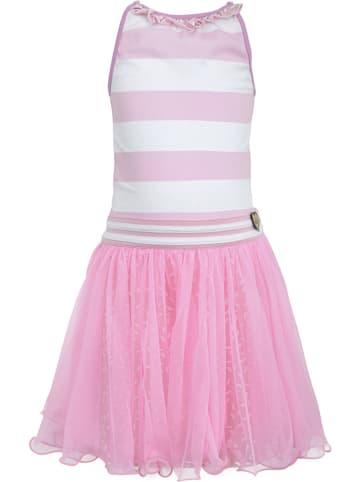 Lofff Kleid in Rosa/ Weiß