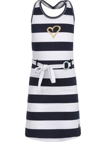 Lofff Kleid in Dunkelblau/ Weiß