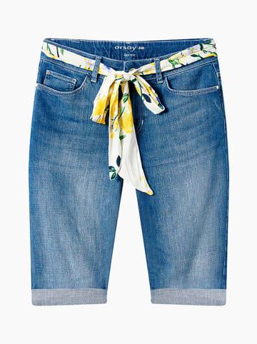 Orsay Bermudy dżinsowe w kolorze błękitnym