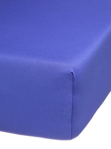 Avance Mikrofaser-Jersey-Spannbettlaken in Blau