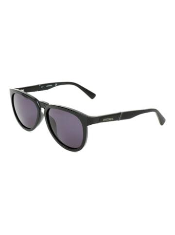 Diesel Dziecięce okulary przeciwsłoneczne w kolorze czarnym