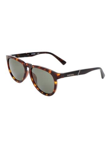"""Diesel Okulary przeciwsłoneczne """"DL0272"""" w kolorze brązowym"""