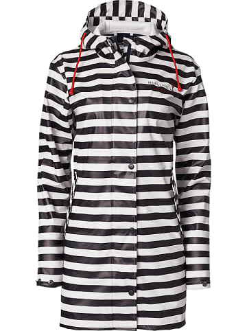 """MARINEPOOL Płaszcz przeciwdeszczowy """"Anika"""" w kolorze czarno-białym"""
