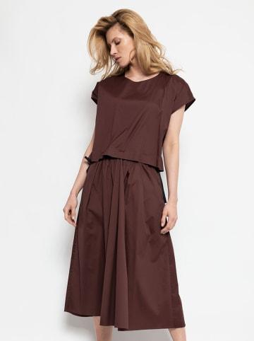 Deni Cler Sukienka w kolorze brązowym