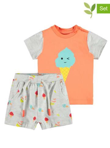 "Name it 2-delige outfit ""Jeff"" oranje/grijs"