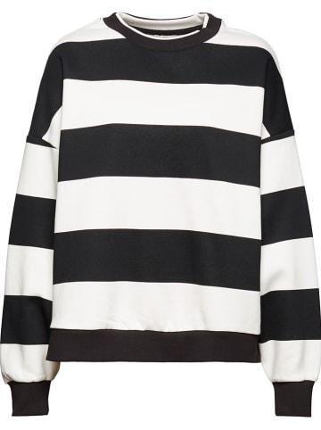 ESPRIT Sweatshirt in Schwarz/ Weiß