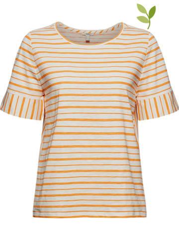 ESPRIT Koszulka w kolorze pomarańczowo-kremowym