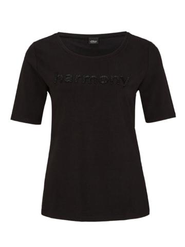 S.Oliver BLACK LABEL Shirt in Schwarz
