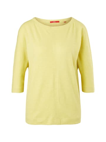 S.OLIVER RED LABEL Longsleeve in Gelb