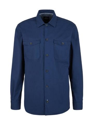 S.OLIVER RED LABEL Overhemd - regular fit - donkerblauw