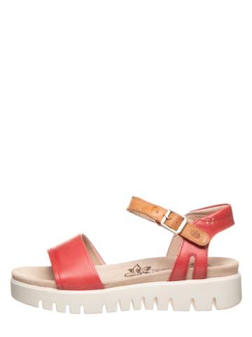 """Josef Seibel Skórzane sandały """"Thea 05"""" w kolorze czerwonym"""