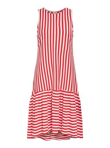 """ONLY Sukienka """"Fiona"""" w kolorze czerwono-białym"""
