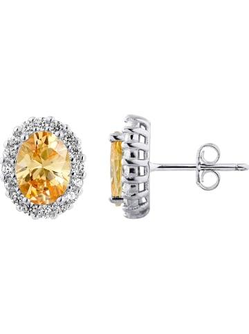 Wishlist Zilveren oorstekers met kristalen