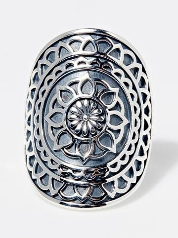 "AMAZONIA Zilveren ring ""Tlal"""
