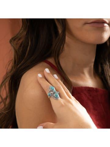 """AMAZONIA Zilveren ring """"Luna"""" met edelstenen"""