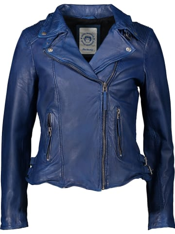 BLUE MONKEY Leren jas blauw
