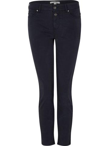Comma Spodnie chino - Skinny fit - w kolorze granatowym