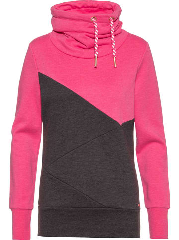 WLD Sweatshirt in Pink/ Dunkelgrau