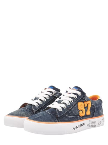 Vingino Sneakers donkerblauw/oranje