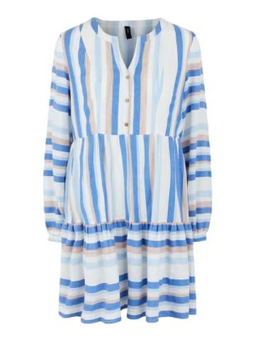 """Y.A.S Kleid """"Fenja"""" in Blau/ Weiß"""