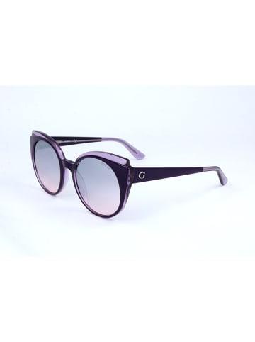 Guess Damskie okulary przeciwsłoneczne w kolorze fioletowym