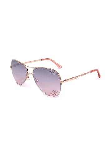 Guess Damskie okulary przeciwsłoneczne w kolorze jasnoróżowym
