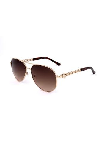 Guess Damskie okulary przeciwsłoneczne w kolorze złotym