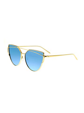 """Bertha Damskie okulary przecwisłoneczne """"Aria"""" w kolorze niebiesko-złotym"""
