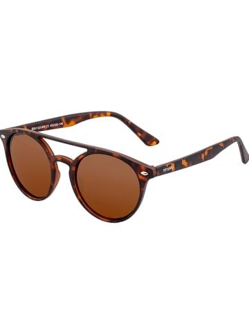 """Simplify Damskie okulary przeciwsłoneczne """"Finley"""" w kolorze brązowym"""