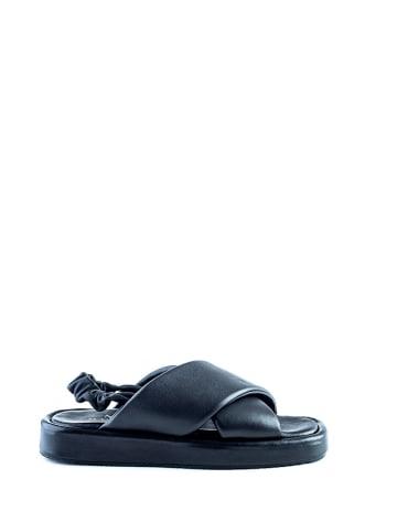 Musk Skórzane sandały w kolorze czarnym