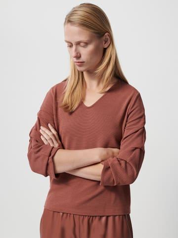"""OPUS Sweter """"Kandora"""" w kolorze czerwonobrązowym"""
