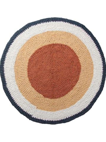 Sebra Bawełniany dywan w kolorze pomarańczowo-żółtym
