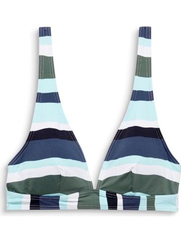 ESPRIT Biustonosz bikini w kolorze granatowo-niebieskim