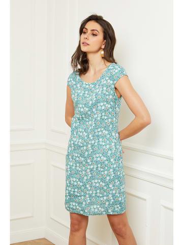 """Fleur de Lin Lniana sukienka """"Ambiance"""" w kolorze turkusowym"""