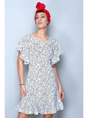H.H.G. Kleid in Weiß/ Bunt