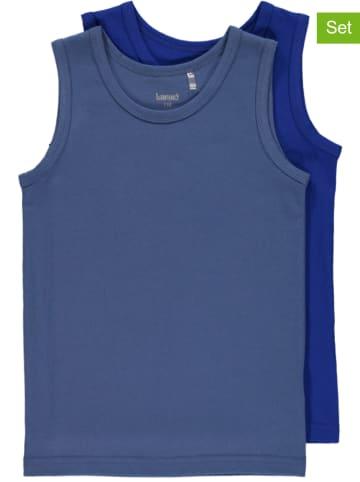Lamino 2er-Set: Unterhemden in Blaugrau/ Blau