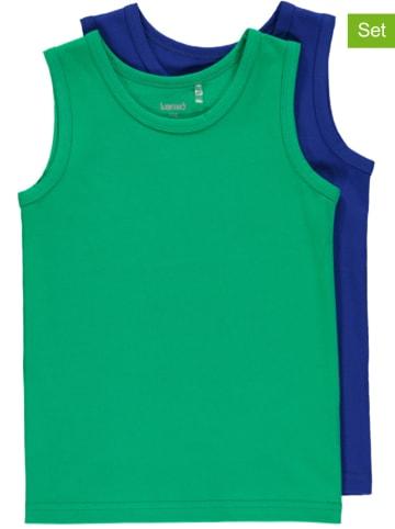 Lamino 2er-Set: Unterhemden in Grün/ Blau
