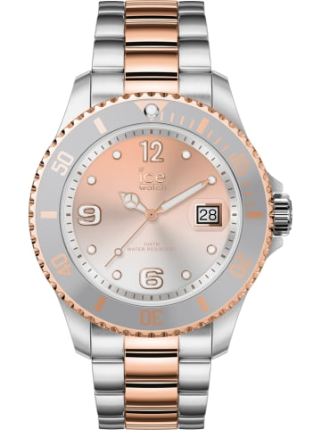 "Ice Watch Quarzuhr ""Sunset rose"" in Silber-Roségold"