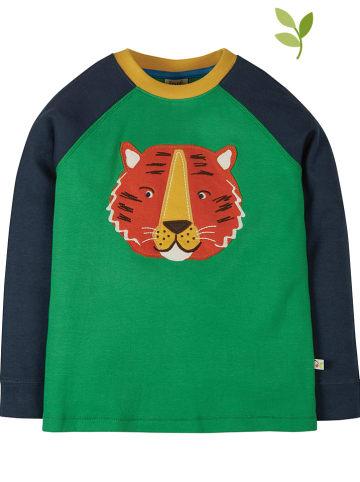 """Frugi Koszulka """"Jake"""" w kolorze zielono-granatowym"""