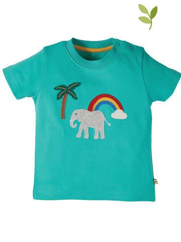 "Frugi Shirt ""Little Creature"" in Türkis"