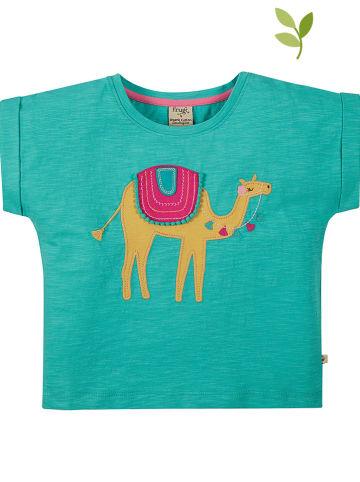 """Frugi Koszulka """"Sophia"""" w kolorze turkusowym"""