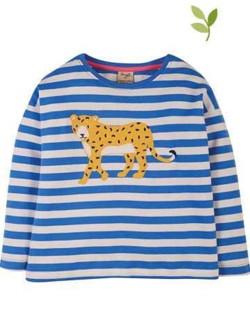 """Frugi Koszulka """"Tori"""" w kolorze niebiesko-białym"""