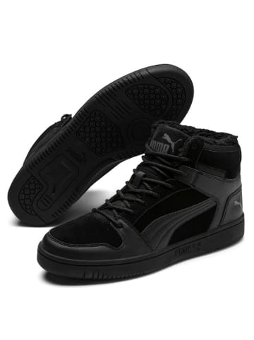 "Puma Leren sneakers ""Rebound"" zwart"