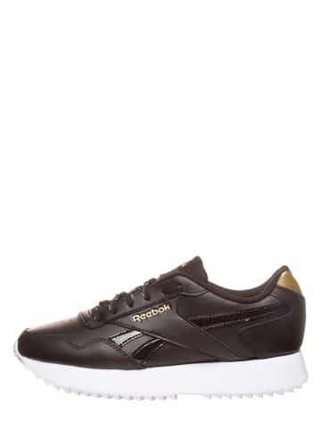 """Reebok Skórzane sneakersy """"Royal Glide"""" w kolorze czarnym"""