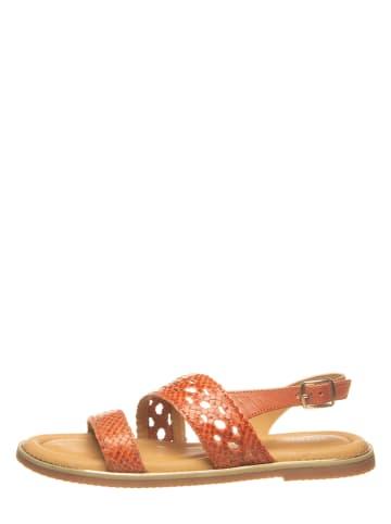 """SALAMANDER Skórzane sandały """"Dalija"""" w kolorze jasnobrązowym"""